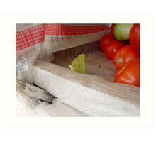 The Tomato Vendor - Common Sulphur Butterfly Art Print