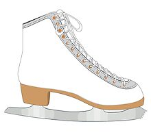 White ice skate by AnnArtshock