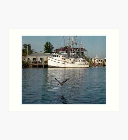 Shrimp Boats Scenic Art Print