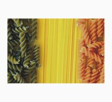 Raw Pasta Spaghetti and Fusilli One Piece - Short Sleeve