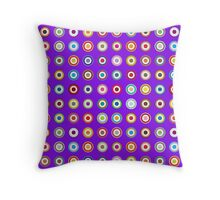 Mods dots large and purple Throw Pillow