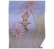 Two Pink Flowers Poster