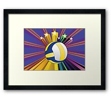 Volleyball Ball Background Framed Print