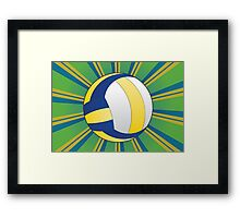 Volleyball Ball Background 3 Framed Print