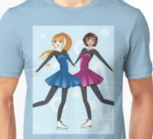 Two female figure skaters Unisex T-Shirt