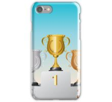 Trophy Cup on Podium 2 iPhone Case/Skin