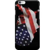 USA United States of America Flag Map iPhone Case/Skin