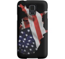 USA United States of America Flag Map Samsung Galaxy Case/Skin