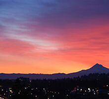 Portland Oregon Sunrise by Edith Farrell