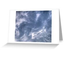 White Clouds and Sky Greeting Card