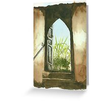 To the Roof Greeting Card