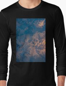 Candle light and frozen window Long Sleeve T-Shirt