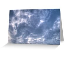 White Clouds and Sky 4 Greeting Card