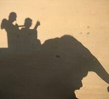 Silhouette elephant riding by Keechy