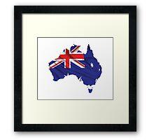 Australia Flag Map Framed Print