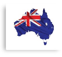 Australia Flag Map Canvas Print