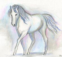 White Pony by Roz Abellera Art Gallery