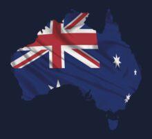 Australia Flag Map Kids Clothes