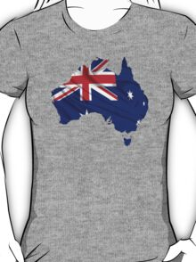 Australia Flag Map T-Shirt