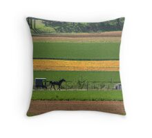 Amish Farmland Throw Pillow