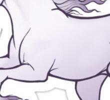 The Last Unicorn Galloping White Unicorn Illustration Sticker