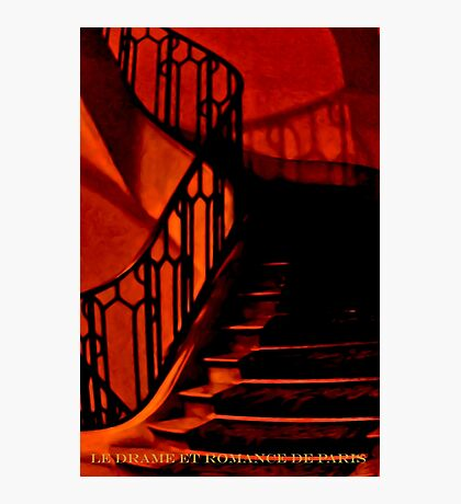 PARIS APARTMENT HOUSE STAIRS (CARD) Photographic Print
