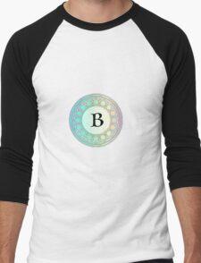B Pastel Circle Men's Baseball ¾ T-Shirt