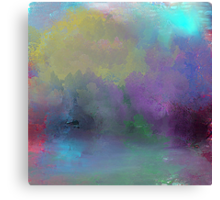 Abstract Tree's Landscape Canvas Print