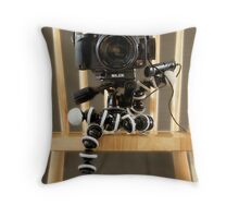 Portrait of a Rebel Throw Pillow