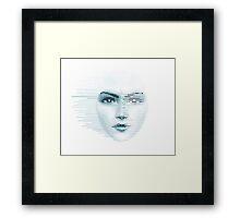 Pixel Face Framed Print