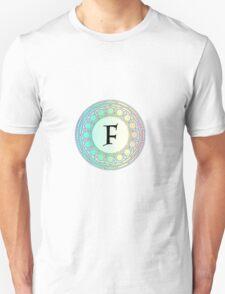 F Pastel Circle Unisex T-Shirt