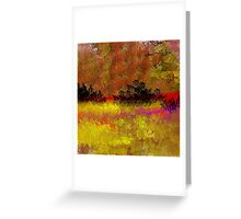 Golden Landscape with Reds and Purple Greeting Card