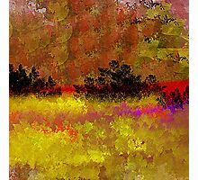Golden Landscape with Reds and Purple Photographic Print