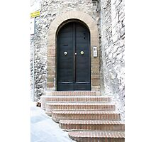 Assisi Doorway Photographic Print