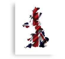 UK United Kingdom Flag Map Canvas Print