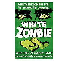 White Zombie (Vintage Movie Poster) Photographic Print