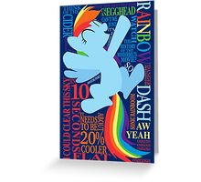 The Many Words of Rainbow Dash Greeting Card