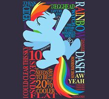 The Many Words of Rainbow Dash Unisex T-Shirt