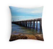 along the pier Throw Pillow