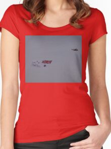 Flying The White Ensign @ Nowra Airshow 2008 Women's Fitted Scoop T-Shirt
