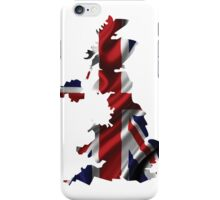 UK United Kingdom Flag Map iPhone Case/Skin