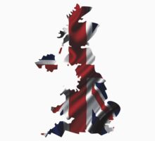 UK United Kingdom Flag Map Kids Clothes