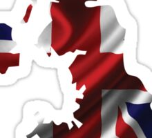 UK United Kingdom Flag Map Sticker