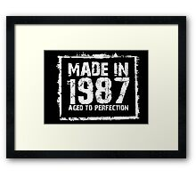 Made In 1987 Aged To Perfection - Tshirts & Hoodies Framed Print