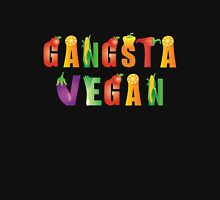 Gangsta Vegan...nothing with a face! Womens Fitted T-Shirt