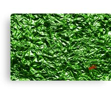 Metallic Green Canvas Print