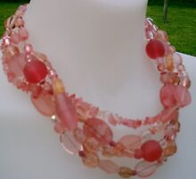 Peach Sorbet Necklace by honeyjewel