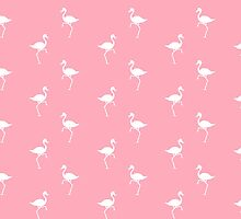 Pink Flamingos Pattern by Christina Rollo