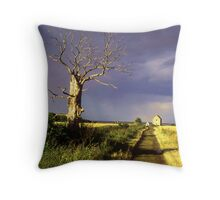Track to St Peter On The Wall, Bradwell, Essex England. Throw Pillow