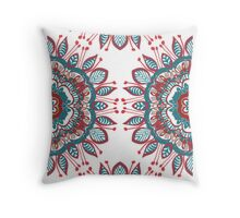 Retro Mandala Throw Pillow
